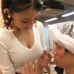 香椎りあ│「触っていいですよ♡」ロケットおっぱい美容師が誘惑!巨乳揉みまくって店内SEX